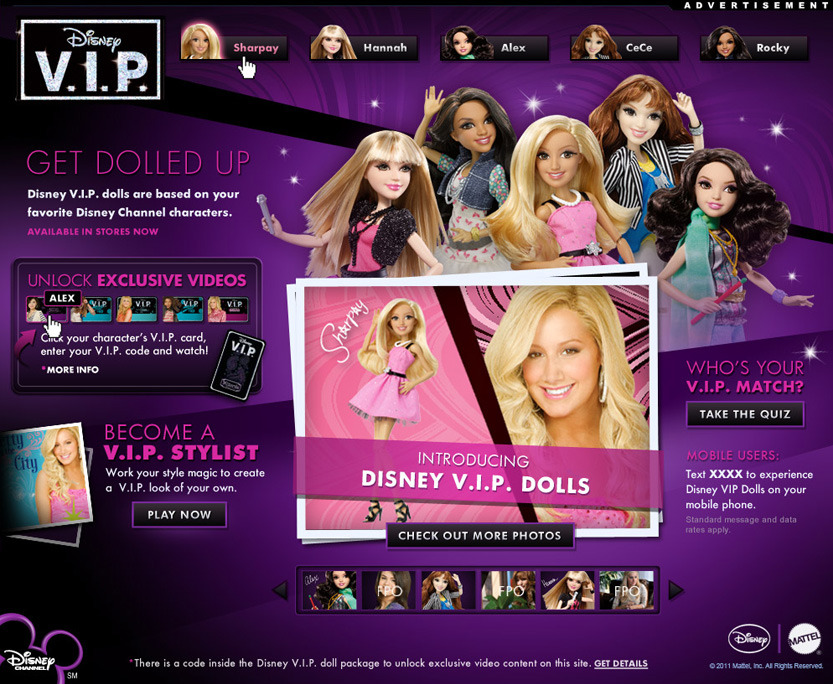 Gallery images and information: Disney Channel Vip Dolls